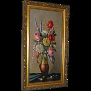 SALE Vintage Oil Painting on canvas back signed P, Kramer, c 1900