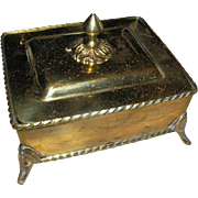 SALE Vintage Solid Brass box from India, Late 20th c. with the lid