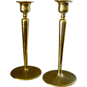 SALE Pair of Brass Candlesticks, simple, stylish, and contemporary