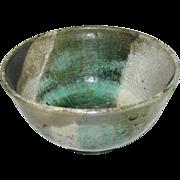 SALE Ceramic bowl, signed J. Parker, Raku