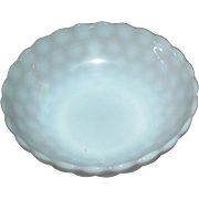 """SALE Opalescent white bowl, 8 1/4"""". in excellent condition"""