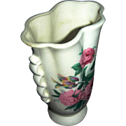 SALE Flower Vase in a lovely form with Flowers emblazeded upon it...very nice!