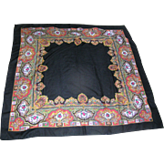 SALE Beautiful Paisley Shawl marked acylique by Glentex, Japan and measuring 4 feet square! ..