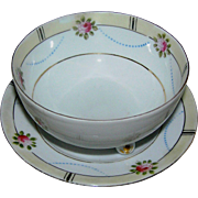SALE Noritake marked bowl and underplate with a chip on the lip