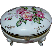 SALE Trinket box or small jewelry box, marked with the double crossed arrows of Meissen ...