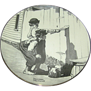 SALE Norman Rockwell Collector's plate, Ridgewood Fine China, 1974, limited edition