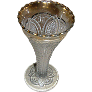 SALE Trumpet Vase, EAPG, clear with a flashed gold top. EXC. Rare!