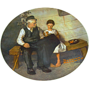 SALE The Lighthouse Keeper and his daughter collector plate after Norman Rockwell, Knowles, ..
