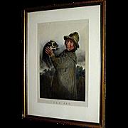 SOLD Print, chronograph, The Pet framed by David Brenndan Fine Art Studios