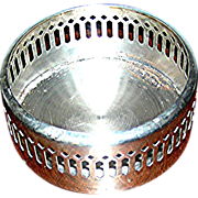 """Silver Plate wine caddy for 4"""" bottle, VG"""