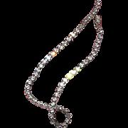 "SALE Vintage Rhinestone choker necklace, 14"" long"