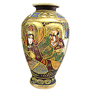 Satsuma Vase, Showa Dynasty, pre WW11, Excellent Example
