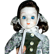 SALE Doll, bisque, original, one eye lazy