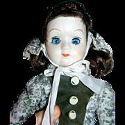 SALE Doll, bisque, original, one eye lazy