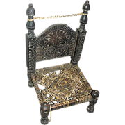 SALE Pakistani low chair, hand made, 19th. c.
