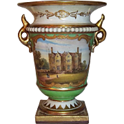 Majestic Royal Worcester Porcelain Flight, Barr, & Barr Small Cabinet Cup with Chastleton Hous