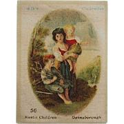 B.D.V.  Cigarettes #56 Rustic Children Gainsborough Cigarette Silk