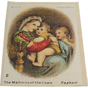 B.D.V. Cigarettes  #2 The Madonna of the Chair,  Raphael