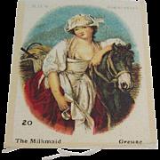 B.D.V. Cigarettes  #20 The Milkmaid, Greuse, Cigarette Silk