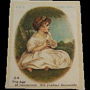 B.D.V. Cigarettes #24 The Age of Innocence, Sir Joshua Reynolds, Cigarette Silk