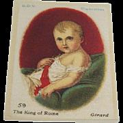 B.D.V. Cigarettes #59  The King of Rome, Gerard, Cigarette Silk