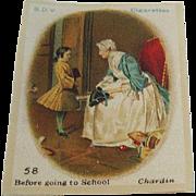 B.D.V. Cigarettes #58 Before Going to School, Chardin, Cigarette Silk