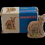 Wade Whimsies Lamb Porcelain Miniature  MIB  Circa 1970's