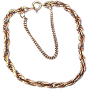 SOLD Sterling Silver Rope Style Chain Bracelet