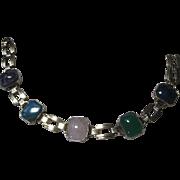 vintage Engel Brothers gold filled Gem Stone Bracelet