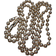 Long Milor 925 Sterling Ball Pull Chain Necklace