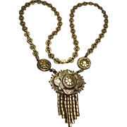 1930s ornate Victorian Etruscan Revival Necklace