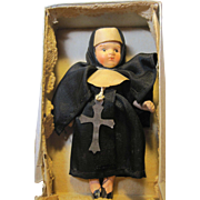 SALE PENDING tiny vintage Nun Doll in original box