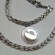 Vintage signed Coro 1950s Silver Toned Necklace Bracelet Set - Demi Parure