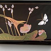 Vintage Black Lacquer Finish Box ~ Japan