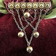 Vintage Art Nouveau Swag Brooch Pin