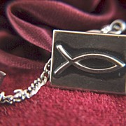 Vintage James Avery  Ichthys Symbol Tie Tac - LAPEL PIN