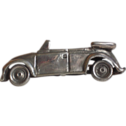 SALE Sterling Silver Figural Vintage Convertible Car Pin Brooch
