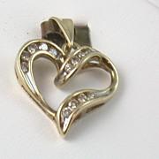 SALE Estate 10K Diamond Heart