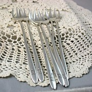 SALE 7 Deco Tiffany Seafood Forks