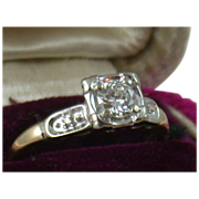 Estate 1940's 14K .45CT Diamond Ring