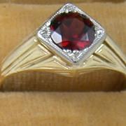 SALE 14K 1.46 CT Garnet Ring