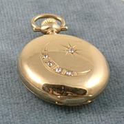 SALE 1890's Five Diamond Pocket Watch
