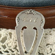 SALE S Kirk & Son Sterling Bookmark