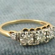 SALE Estate 14K Jabel 0.70CT Five Diamond Ring