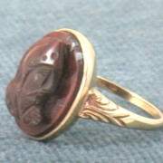 SALE 10K Cameo Ring