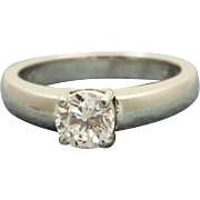 Estate Platinum Jeff Cooper 0.72 CT Diamond Solitaire