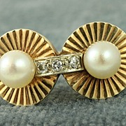 """SALE Estate """"Old Hollywood"""" Pearl and Diamond Ring"""