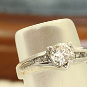 SALE Estate 0.65CT Round Brilliant Diamond Ring