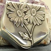 SALE Art Nouveau Silver Box Pendant