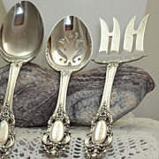 SALE Estate Towle Sterling Grand Duchess 3 Piece Serving Set